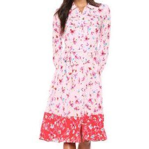 NWT Nanette Lepore Pink Floral Print Dress Size 4